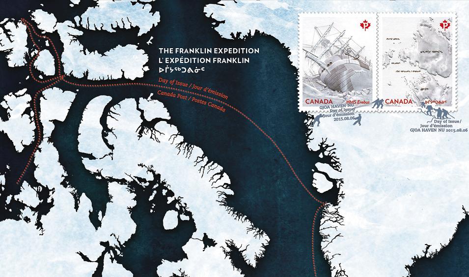 canada-john-franklin-exploration-map-souvenir-sheet-2015