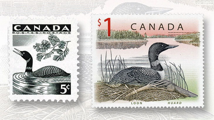 canada-loon-stamps