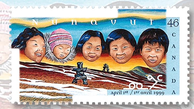 canada-nunavut-territory-established-1999-stamp