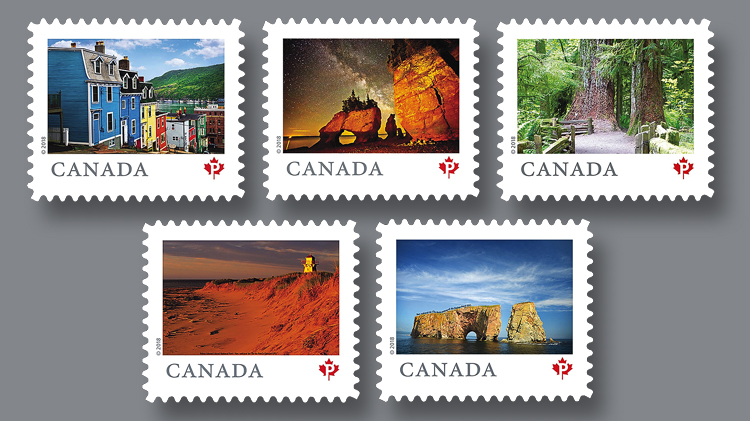 canada-post-five-permanent-definitive-stamps