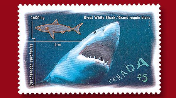 canada-program-1997-shark-stamp