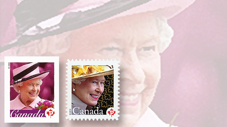 canada-queen-elizabeth-stamps-hats-2006-2013