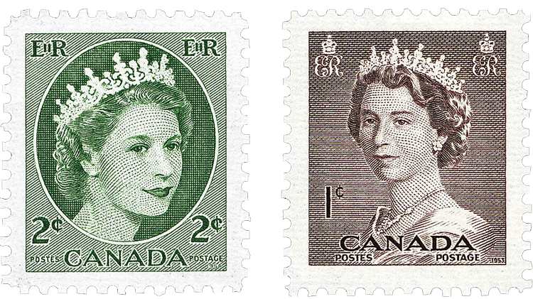 canada-queen-elizabeth-stamps-yousuf-karsh-dorothy-wilding-photos