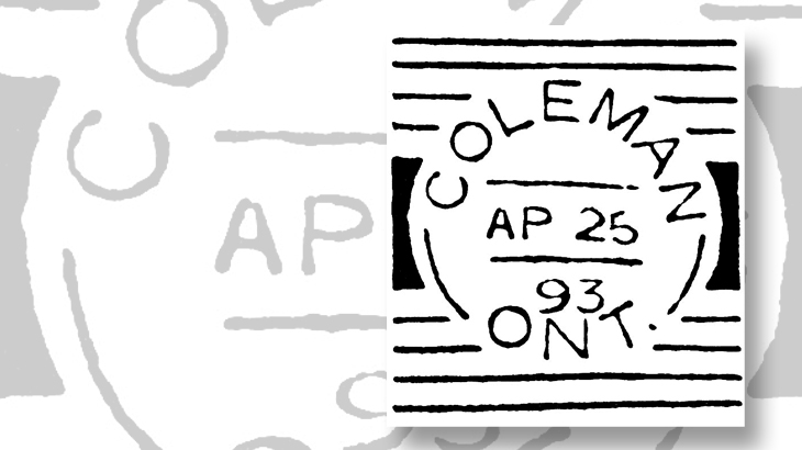 canada-squared-circle-postmarks-coleman-ontario