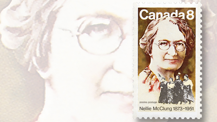 canada-suffrage-vote-nellie-mcclung-stamp