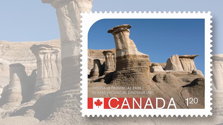 UNESCO Dinosaur Park stamp