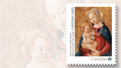 canada-virgin-and-child-christmas-stamp