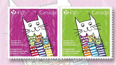 canadian-ten-cent-semipostal-stamps-happy-cat-family