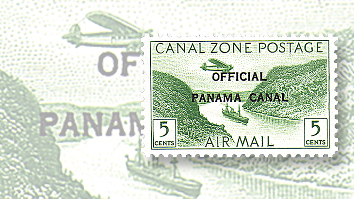 canal-zone-airmail-official-stamp-set-1941