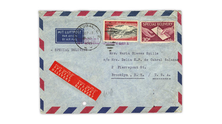 Us Special Delivery Stamps Used In Canal Zone
