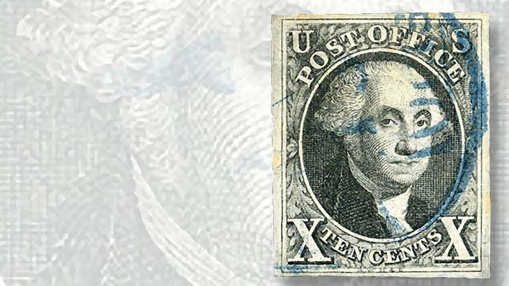 canceled-example-1847-ten-cent-washington-stamp
