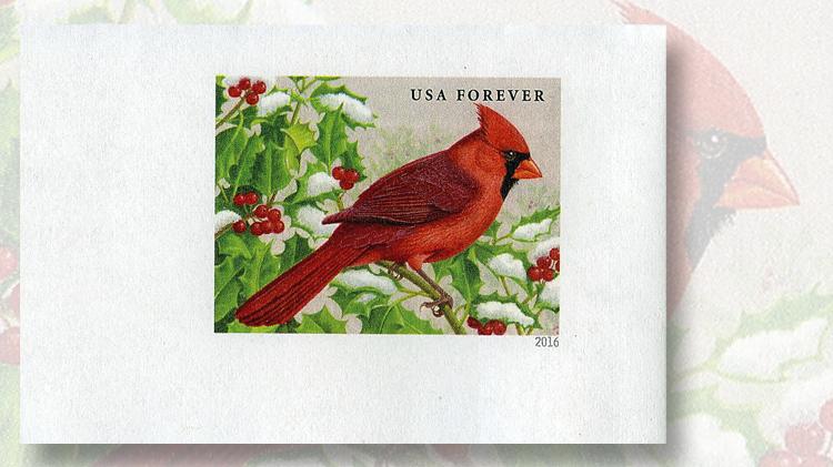 Cardinal forever stamped envelope