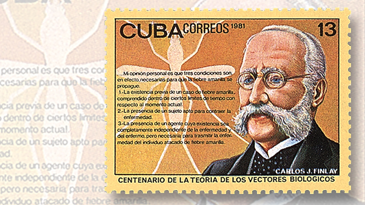 carlos-finlay-1993-stamp-issued-by-cuba