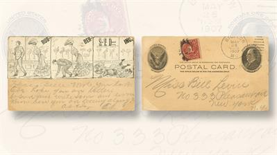 cartoon-artwork-one-cent-mckinley-postal-card