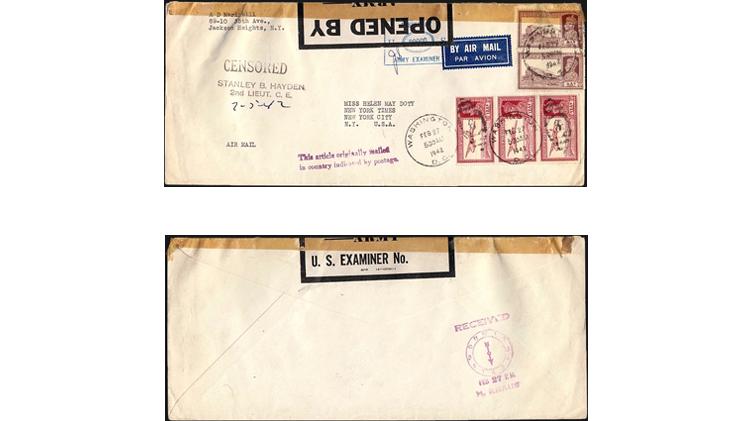 censored-cover-india-washington-new-york-1942