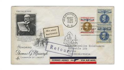 champions-liberty-thomas-masaryk-first-day-cover-returned-czechoslovakia