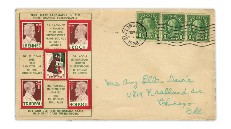 charles-gilbert-1938-christmas-seals-first-day-cover