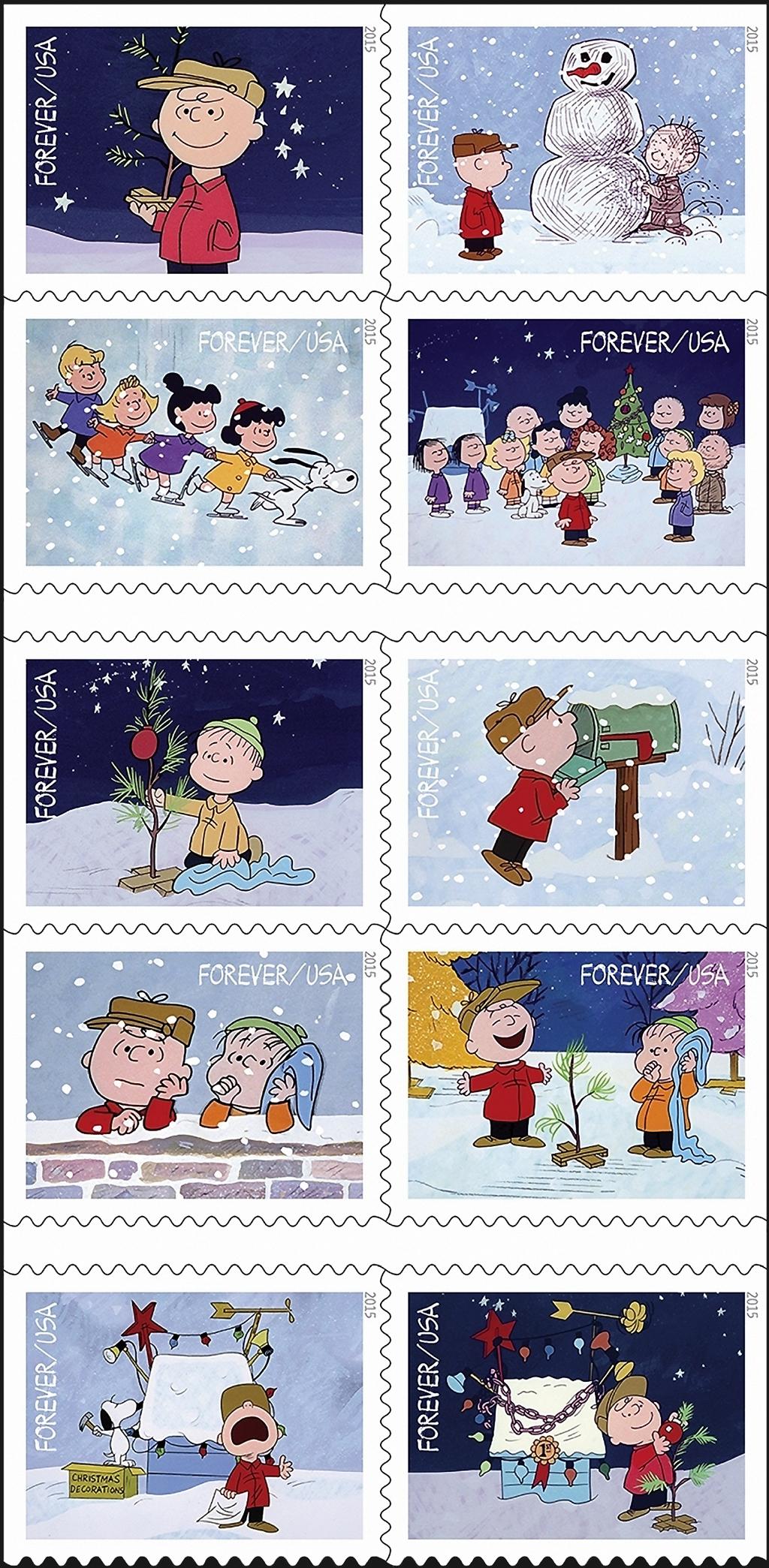 charlie-brown-christmas-10-stamps-2015