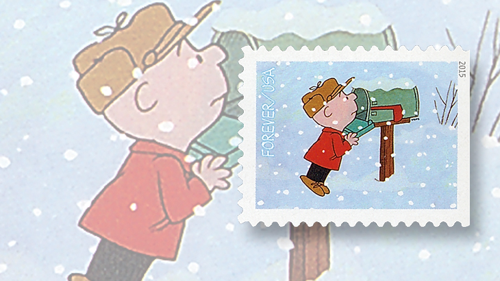Charlie brown computer vended stamp issued