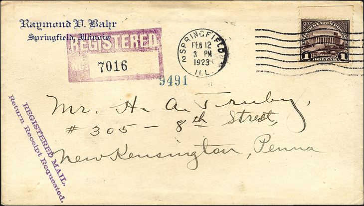 cherrystone-auction-1923-dollar1-lincoln-memorial-first-day-cover