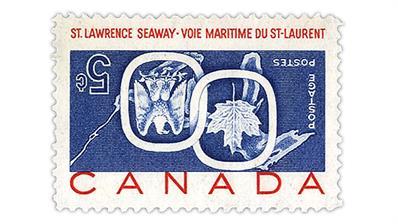 cherrystone-auction-1959-canada-st-lawrence-seaway-invert-error-stamp