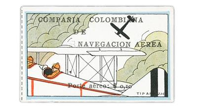 Cherrystone Auction including Colombia 1920 airmail stamp