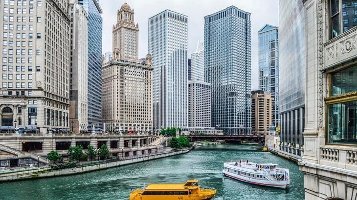 Chicago River architecture