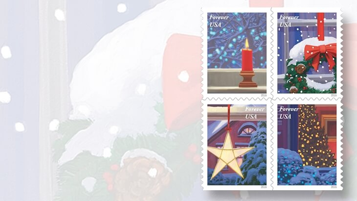 2016 Holiday Windows stamps