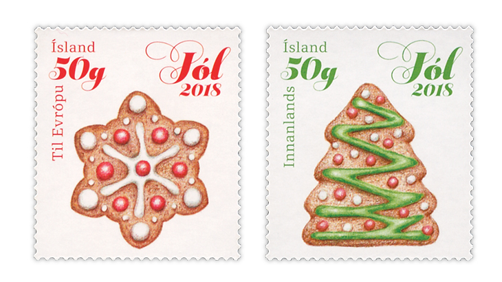 Christmas Stamps 2019.Smell Of Gingerbread On New Iceland Stamps