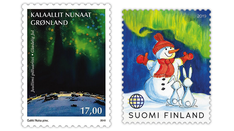 christmas-stamps-finland-greenland-northern-lights