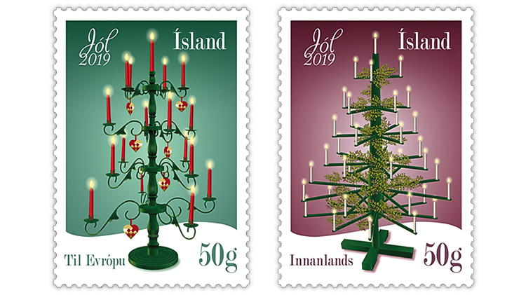 christmas-stamps-iceland-trees-candles