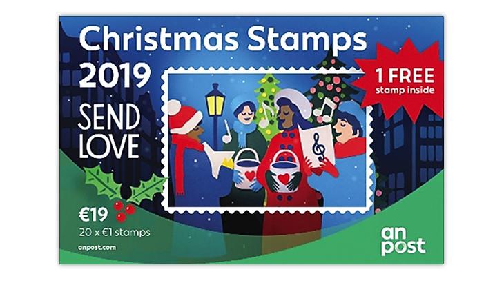 christmas-stamps-ireland-carolers-street-lamp