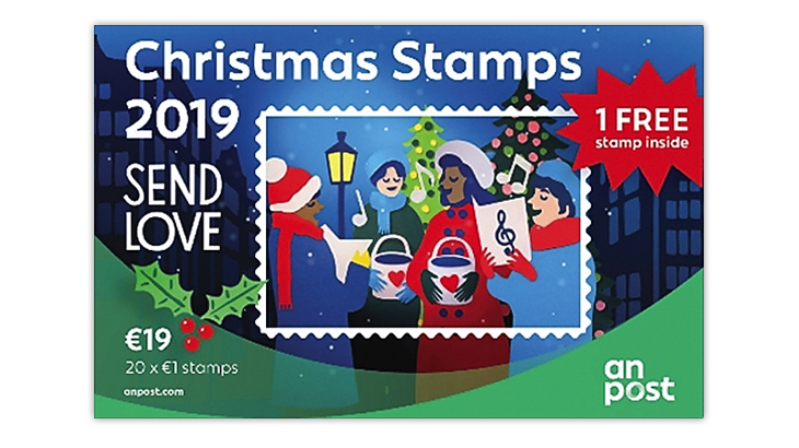 christmas-stamps-ireland-carolers-street-lamp