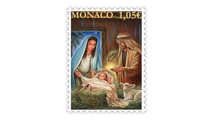 christmas-stamps-monaco-nativity