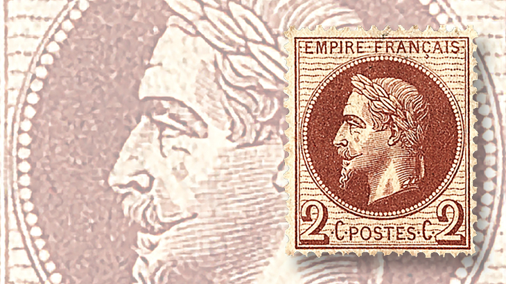classic-france-1863-president-louis-napoleon-laurel-wreath-stamp