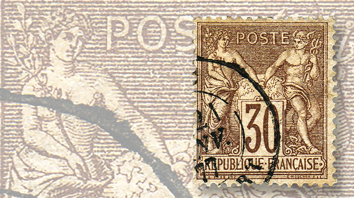 classic-france-1875-peace-and-commerce-stamp-sage-design