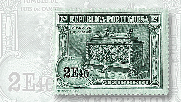 classic-stamps-world-portugal-1924-luis-camoens-monastery-grave