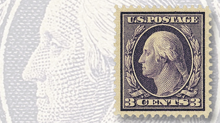 clipper-city-collection-1909-deep-violet-george-washington-stamp