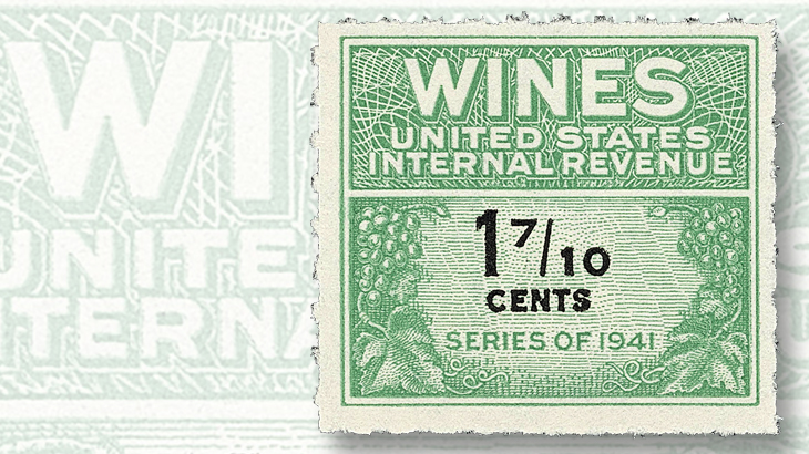 clipper-city-collection-offset-printed-series-1941-wine-tax-stamp