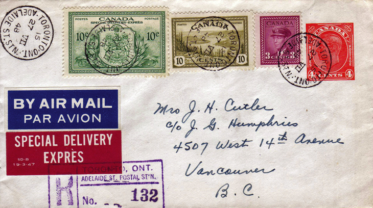 collecting-canada-war-and-peace-airmail-special-delivery-cover-vancouver-british-columbia