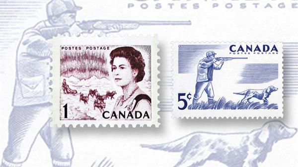 collecting-canada-working-dogs-pointer-sled-team-outdoor-recreation-centennial-defintive-stamps