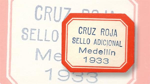 colombia-medellin-local-postal-tax-stamp-red-cross