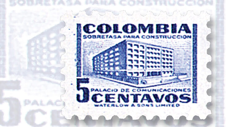 columbia-small-5-centavo-stamp