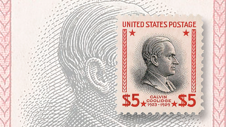 computers-and-stamps-siegel-website-2009-auction-dollar5-calvin-coolidge-jumbo-margins