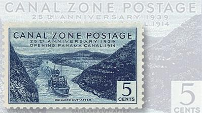 construction-operation-of-panama-canal-stamps