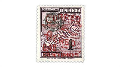 costa-rica-1930-overprinted-surcharged-airmail-stamp