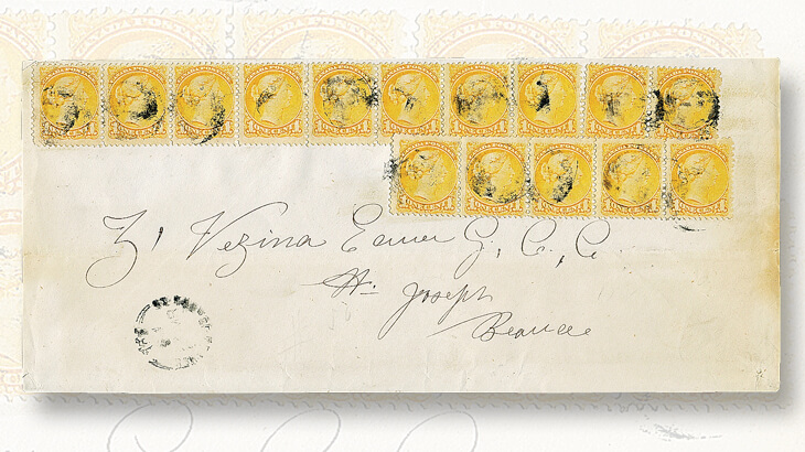 cover-featuring-fifteen-small-queens-stamps