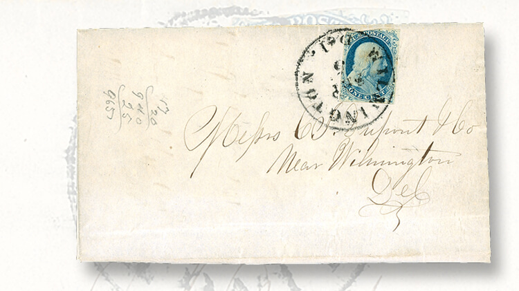 cover-with-1851-1-cent-type-i-franklin-stamp