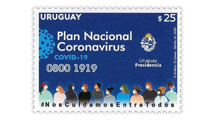 covid-uruguay-stamp