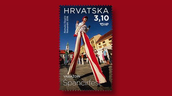 croatia-2018-tourism-stilt-walker-stamp